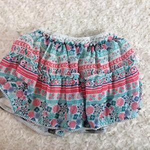 Disney Girls Sz 5 Skirt Tiered Coral Teal White La